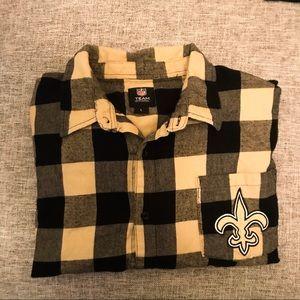 OFFICIAL NFL SAINTS NEW ORLEANS Flannel size Large